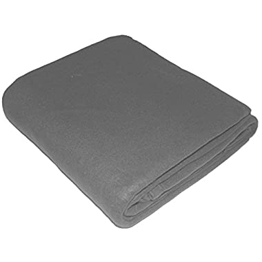 King Polar-Fleece Thermal Blanket Grey - Extra Soft Brush Fabric, Super Warm, Lightweight & Easy Care, Couch Blanket - By UTOPIA BEDDING