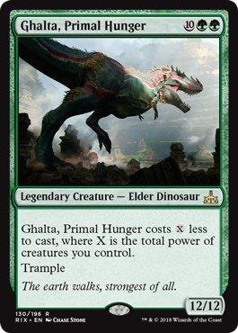 Ghalta, Primal Hunger - Rivals of Ixalan by Wizards of the Coast