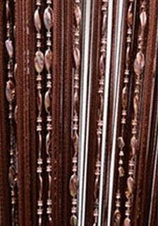 Eve Split 100cmX200cm Decorative Door String Curtain Beads Wall Panel Fringe Window Room Divider Blind for Wedding Coffee House Restaurant Parts Door Divider Beads Tassel Screen Decoration (coffee2) (Bead Door)