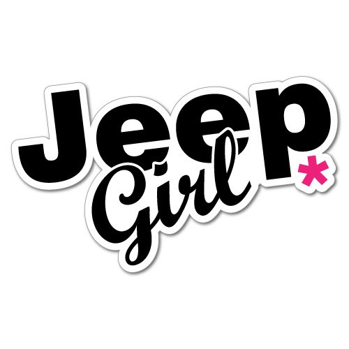 Jeep Girl 4X4 Sticker Decal Stickers Pet Art Laptop
