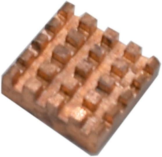 Semoic 4Pcs Copper Aluminum Heatsink Kit Cooler Kit for Raspberry Pi 4 Model B Silver