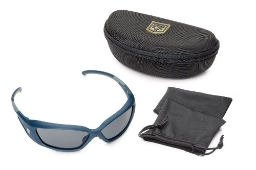 Revision Military Hellfly Ballistic Sunglasses - Steel Blue Frame/Smoke Lenses
