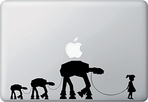 Girl Walking Robot Family - MacBook or Laptop Decal Sticker - Yadda-Yadda Design Co. (11