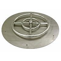 American Fireglass Round Stainless Steel...