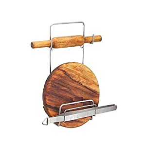 Pureus Presents Chakla Belan Stand for Kitchen with Stainless Steel