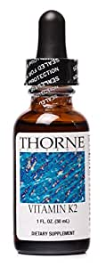 Thorne Research - Vitamin K2 Liquid (1 mg/drop) - Concentrated Vitamin K2 Supplement - 30 ml