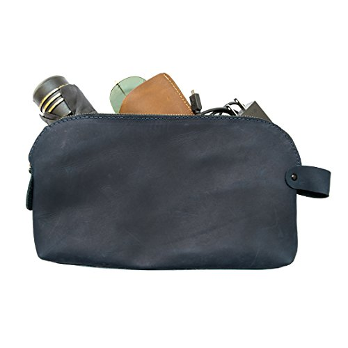 Large All Purpose Dopp Kit Utility Bag (Cords, Chargers, Tools, School / Office Supplies) Handmade by Hide & Drink :: Slate - Burberry Stores Usa