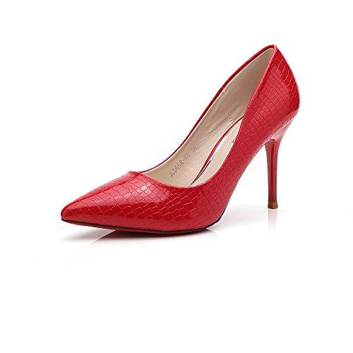 coreana boda versión tacón zapatos finos La 5CM puntiagudo de de femeninos de de boca de zapatos poca con Red zapatos zapatos 9 tacón punta alto la zapatos singles los wz4Ix