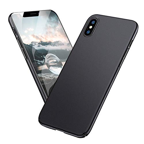 Meidom iPhone Xs Max Case with Ultra Thin Fit and Protective Hard Plastic Anti Fingerprints Slim Case Compatible iPhone Xs Max - Black