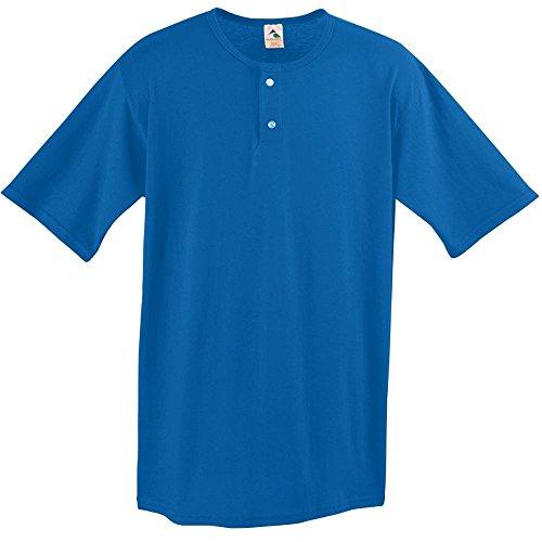 Augusta Sportswear Two Button Baseball Jersey, Large, Royal Augusta Baseball T-shirt