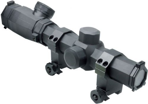 NcStar Octagon 1.1-4X 20mm P4 Reticle Scope Series, Black