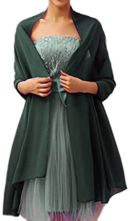 Alivila.Y Fashion Womens Chiffon Bridal Evening Scarf Shawl-Army Green Chiffon