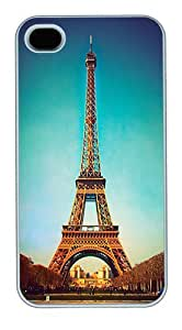 IMARTCASE iPhone 4S Case, Eiffel Tower Polycarbonate Back Case for Apple iPhone 4S/5 White