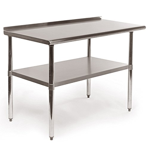HAVEGET X Stainless Steel Work Prep Table Commercial Kitchen - 36 x 48 stainless steel table