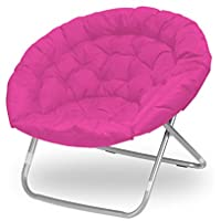 Urban Shop WK656343 Oversized Pink Saucer Chair