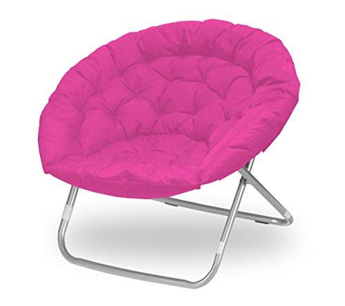 Urban Shop WK656343 Pink Oversized Saucer Chair