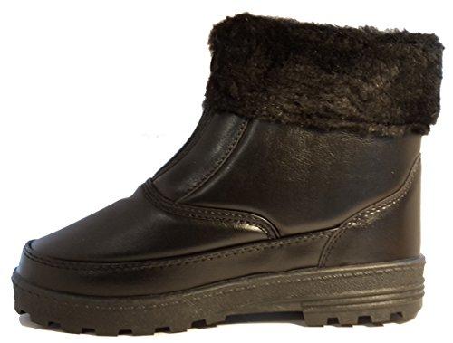 Zapatos de invierno, botas de invierno, zapatos de mujer, modello 1331400112007707, negro, blanco y marrón, diferentes modelos y tamaños. Negro bajo.