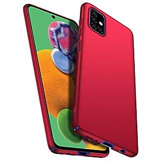 Banzn Slim Fit Samsung Galaxy A71 Case, Ultra Thin Anti-Fingerprint and Minimalist Hard PC Cover for Samsung Galaxy A71 (Smooth Red)