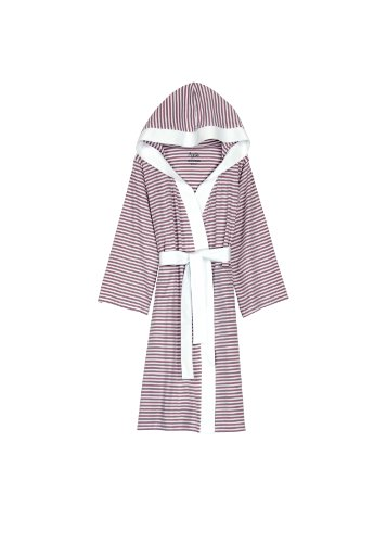 Nine Space Knee Length Striped Jersey Knit Robe, Large/X-Large, (Cotton Hooded Jersey)