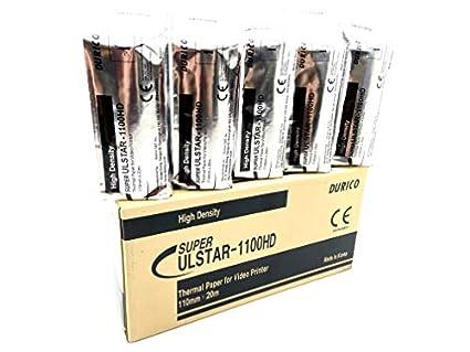 Amazon.com: durico Papel térmico para vídeo Impresora ulstar ...
