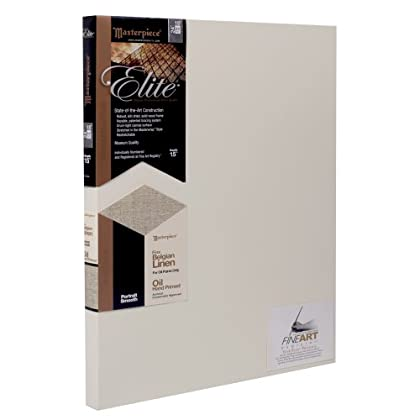 Image of Masterpiece Artist Canvas 35441 Elite 1-1/2' Deep, 36' x 36', Portrait Smooth Oil Primed Belgian Linen Canvas Pads