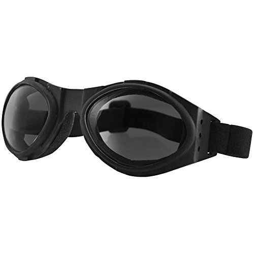 Bugeye Bobster Motorcycle Riding Goggles Smoked Lenses