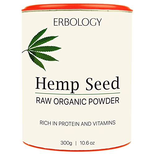 Organic Hemp Protein Powder 10.6 oz - Rich in Vitamin D and Minerals - Raw - Gluten-Free