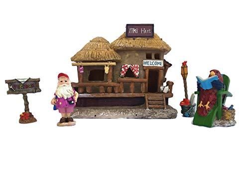 Midwest Design Imports, Inc. Gnome Fairy Garden LED Tiki House & Accessories Starter Kit Bundle: Five Items: LED Tiki House, Gnome & Accessories from Midwest Design Imports, Inc.
