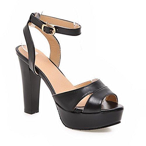 BalaMasa Womens Solid Dress Fashion Urethane Sandals ASL05200 Black S6lUKh