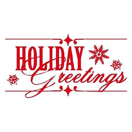 Amazon Com Homefind Holiday Greetings Merry Christmas Art