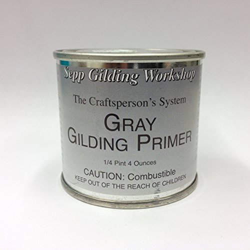 Sepp Leaf Gilding Primer for Silver and Aluminum Leafing Gray 4-Ounce
