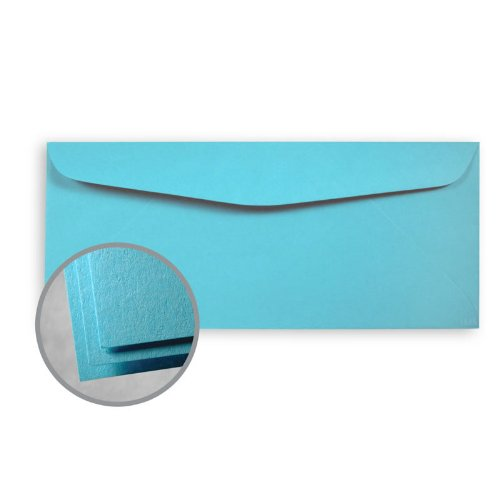Blue 60lb Text - Astrobrights Lunar Blue Envelopes - No. 10 Commercial (4 1/8 x 9 1/2) 60 lb Text Smooth 30% Recycled 500 per Box