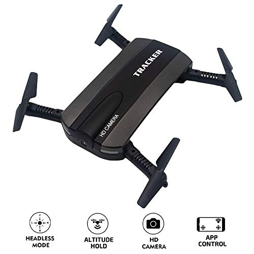 WiFi FPV Drone for Kids and Beginners Adults, Portable APP Remote Control Quadcopter with Foldable Arms, Wide-Angle Live Video / 6-Axis Gyro / 3D Flips/Headless Mode/One Key Return/Altitude Hold