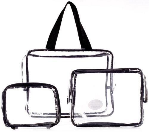 Danielle Three-Piece PVC Bag Travel Set by Danielle Exclusive Creations by Danielle Exclusive Creations