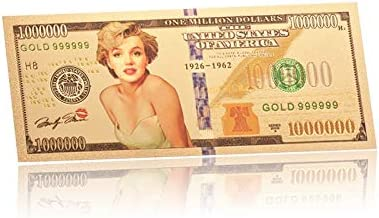 HENGTONGTONGXUN WR 24Kゴールドメッキカラーマリリン・モンローの友人のために紙幣のホームインテリアの高級ビジ