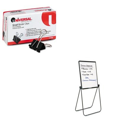 KITQRT101ELUNV10200 - Value Kit - Quartet Ultima Presentation Dry Erase Easel (QRT101EL) and Universal Small Binder Clips (UNV10200)