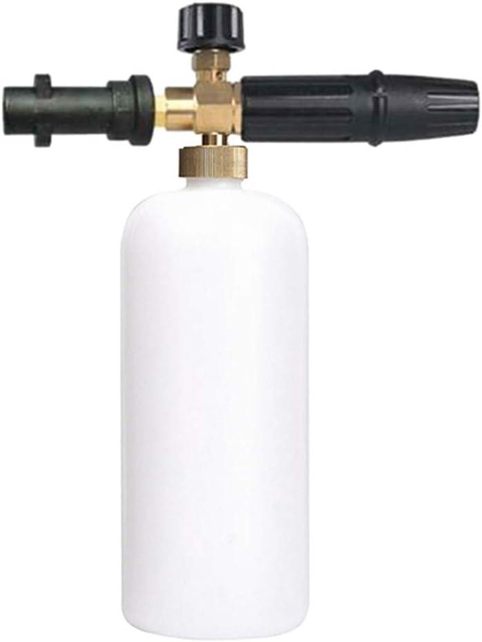 Bouteille pour Jet de Canon de laveuse Karcher K2-K7 Pot /à Haute Pression en Mousse pour Lave-Auto Domeilleur Distributeur r/églable de Savon en Mousse