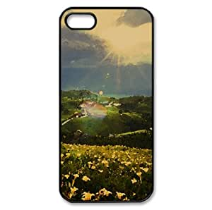Beautiful Mountain Landscape Watercolor style Cover iPhone 5 and 5S Case (Summer Watercolor style Cover iPhone 5 and 5S Case)