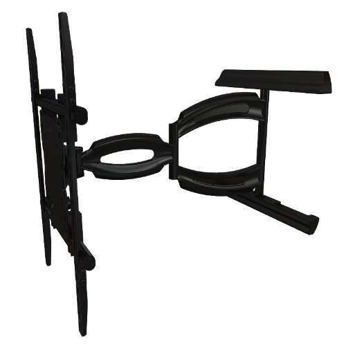 Crimson AV A55 Articulating Mount for 37'' to 55''+ Flat Panel Screens, Black, 150lb (68kg) Weight capacity, 3.5'' (89mm) Depth from wall, 27'' (685.8mm) Max extension, Tilt +15°/-5°, Pivot 90°, 3° Roll (side to side) by Crimson AV