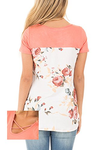 Astylish Casual Crisscross Floral Sleeves