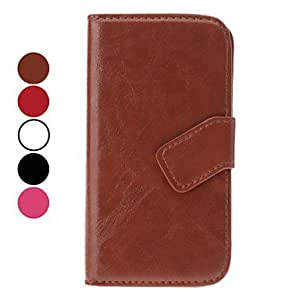 Buy Elegant Style Leather Case with Stand and Card Slot for Samsung Galaxy S4 I9500 (Assorted Colors) , Brown