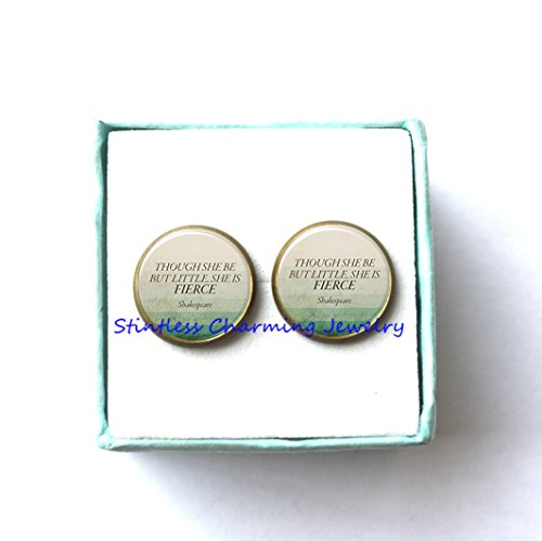 Inspirational Quotes Earrings Quotes Though She