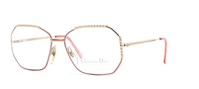 b85a1db772cf Image Unavailable. Image not available for. Color  Christian Dior 2486 43  Gold and Pink Authentic Women Vintage Eyeglasses Frame