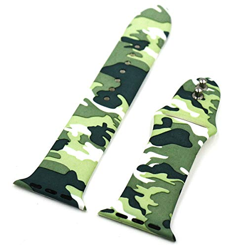 Eletespt 40mm Straps ompatible with Apple Watch Series 4 3 2 1 Bands, Sport Durable Accessories Replacement Band Strap for iWatch Men Women 38mm Wristband (Camo 38MM)     by Eletespt (Image #8)