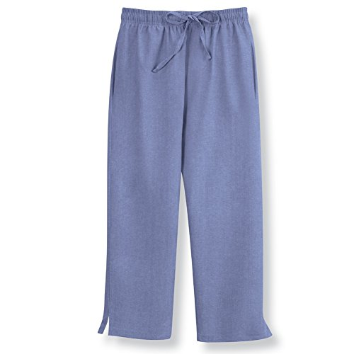 Womens Chambray Capri Drawstring Cotton