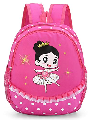 Debbieicy Cute Ballet Dance Backpack Tutu Dress Dance Bag for Girls (Girl-Rose)