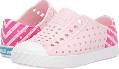 Native Kids Shoes Baby Girl's Jefferson Block (Toddler/Little Kid) Blossom Pink/Shell White/Festival Pink Glow Block 10 M US Toddler -