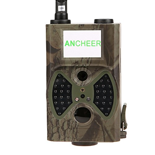 Ancheer Hc 300M 12Mp Hd 2  Lcd Screen Gsm   Mms   Gprs   Sms Control Email Infrared Night Vision Scouting Hunting Trail Camera Burst Shot Trigger Time  Camo