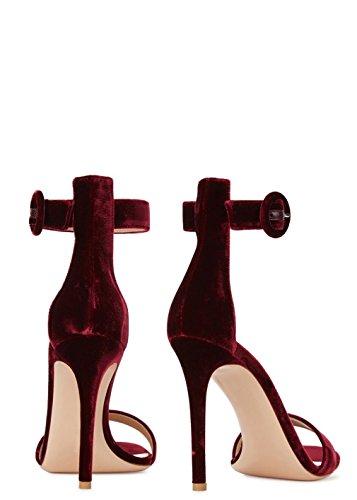 Signora Scarpe Elaborazione Regina Lampeggiamento Lucky Sandali Ragazze Scarpe Della Principessa Sposa Tacco Clover Tacchi Di Femminili Spillo Alti Dell'unità Viola Di Moda Tacco Gattino a A Raso O0PSndT0