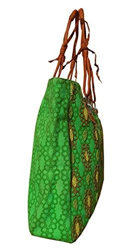 Spice Art, Borsa a spalla donna verde Parrot Green
